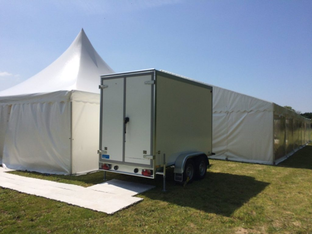 Refrigerated trailer for caterers