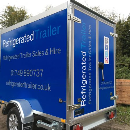 Refrigerated trailer wrapped graphics design