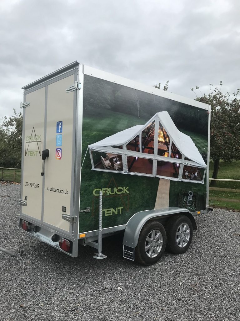 Wrapped Refrigerated Trailer Cruck