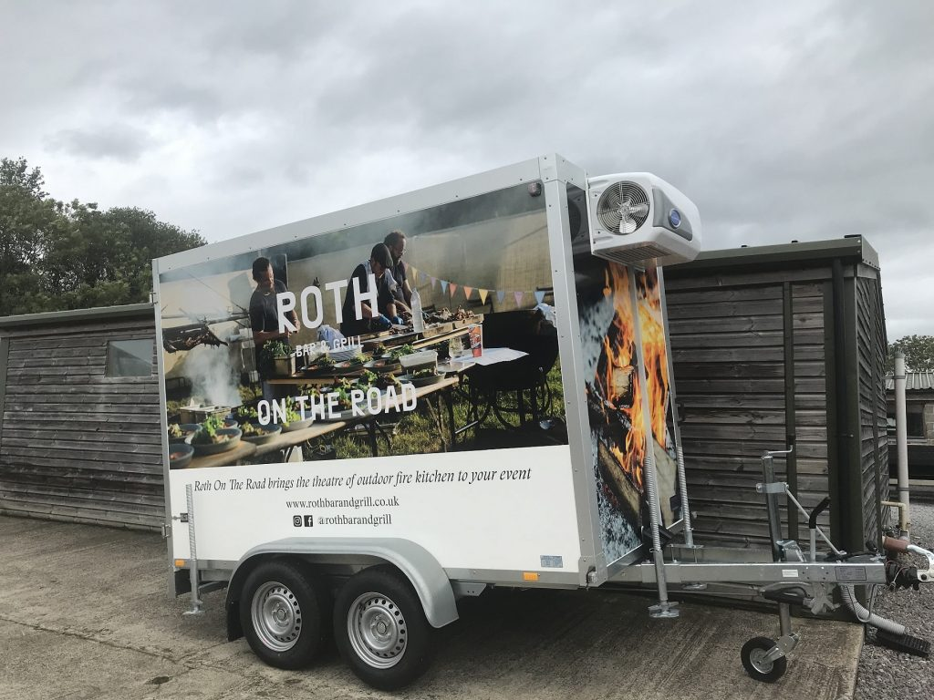 Wrapped Refrigerated Trailer Roth Bar